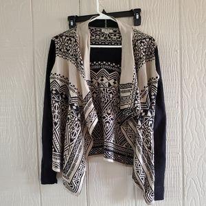 Lucky Brand Aztec/Tribal open cardigan sweater